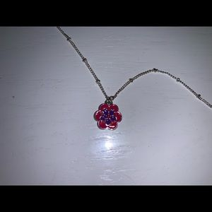 Vera Bradley Knotted Chain Flower Necklace